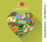 poster with text i love camping....