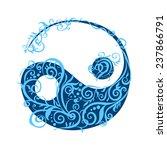 beautiful stylized yin yang in...   Shutterstock .eps vector #237866791