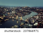 london aerial view with tower... | Shutterstock . vector #237866971