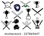 baseball sports equipment...   Shutterstock .eps vector #237869647