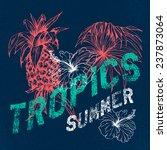 tropics  vector grunge floral... | Shutterstock .eps vector #237873064
