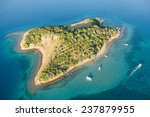 Aerial View Of Croatia Coast...