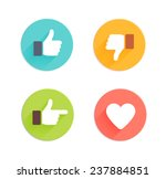 thumbs up and down  heart signs ... | Shutterstock . vector #237884851