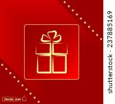 vector illustration of gift box  | Shutterstock .eps vector #237885169