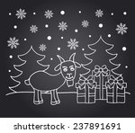 chalkboard new year card with... | Shutterstock .eps vector #237891691
