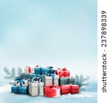 holiday christmas background... | Shutterstock . vector #237898339