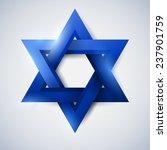 blue star of david  magen david ... | Shutterstock .eps vector #237901759