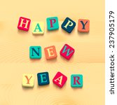 words happy new year with...   Shutterstock .eps vector #237905179