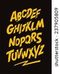 Graffiti comics style font. Vector alphabet | Shutterstock vector #237905809