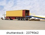 truck backed onto loading dock
