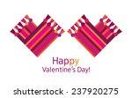 happy valentines day. scarf  ... | Shutterstock . vector #237920275