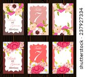wedding invitation cards with...   Shutterstock .eps vector #237927334