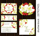 wedding invitation cards with... | Shutterstock .eps vector #237927421