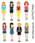 faceless ladies on a white... | Shutterstock .eps vector #237927985