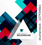 square shape abstract layouts ... | Shutterstock .eps vector #237934861