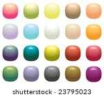 glossy opaque square buttons  ... | Shutterstock . vector #23795023