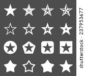 vector set of white star icons | Shutterstock .eps vector #237953677