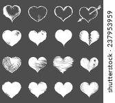 vector set of white sketch... | Shutterstock .eps vector #237953959