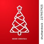greeting card with paper cut...   Shutterstock .eps vector #237957925