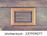 photo frame on wooden... | Shutterstock . vector #237959077