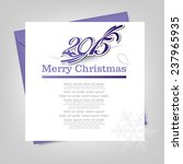 new year greeting card... | Shutterstock .eps vector #237965935