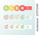 infogaphics simple. 4 steps  ... | Shutterstock .eps vector #237972439