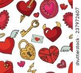valentine's day wedding love... | Shutterstock .eps vector #237972607