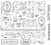 valentine's day wedding love... | Shutterstock .eps vector #237972631