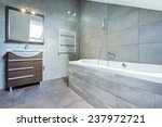 bathroom interior with bath and ... | Shutterstock . vector #237972721
