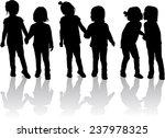 children silhouettes | Shutterstock .eps vector #237978325