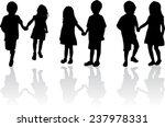children silhouettes   Shutterstock .eps vector #237978331