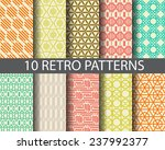10 retro patterns   pattern... | Shutterstock .eps vector #237992377