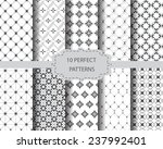 10 perfect vintage patterns ... | Shutterstock .eps vector #237992401