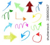 3d set of chalk arrows | Shutterstock . vector #238000267