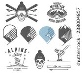 set of retro ski emblems ... | Shutterstock .eps vector #238004857
