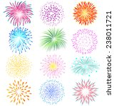 fireworks vector set on white... | Shutterstock .eps vector #238011721