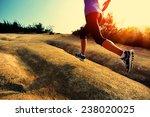 Young Woman Runner Legs Runnin...