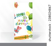 colorful birthday background.... | Shutterstock . vector #238024867