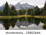 Grand Teton Mountains Reflecte...