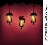 three illuminated lanterns with ...   Shutterstock . vector #238027177