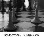 old chess game vintage photo in ... | Shutterstock . vector #238029547