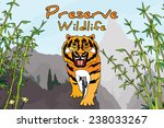 preserve wildlife poster layout ... | Shutterstock .eps vector #238033267
