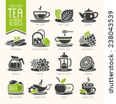 tea icon set | Shutterstock .eps vector #238043539