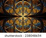 fractal geometry circle | Shutterstock . vector #238048654