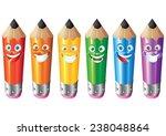 pencil face expression cartoon... | Shutterstock .eps vector #238048864