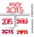 set of new year 2015 text design | Shutterstock .eps vector #238051051