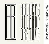 rectangular monogram art... | Shutterstock .eps vector #238059757