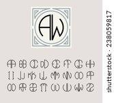 beautiful monogram art nouveau... | Shutterstock .eps vector #238059817