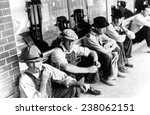 great depression unemployed men ... | Shutterstock . vector #238062151