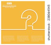 question concept. vector design ... | Shutterstock .eps vector #238064545